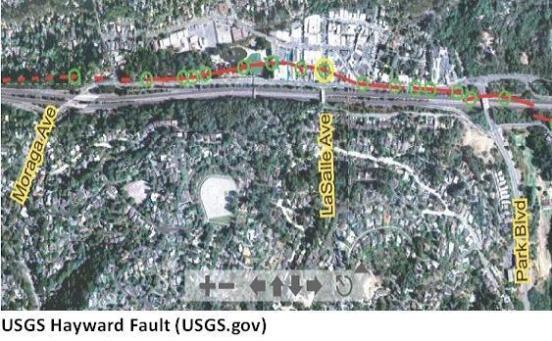 Hayward Fault – Today in Montclair, 94611