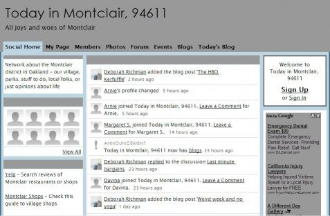 Montclair Social Homepage