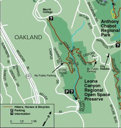Leona Canyon Map