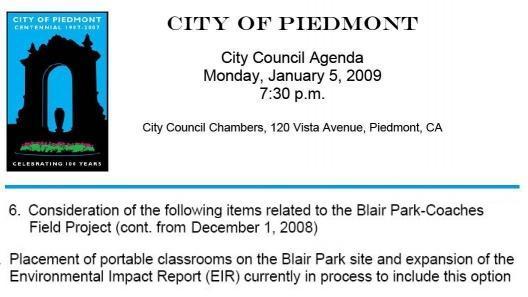 Piedmont City Council Meeting