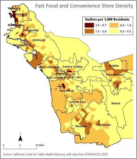 Oakland Fast Food Density