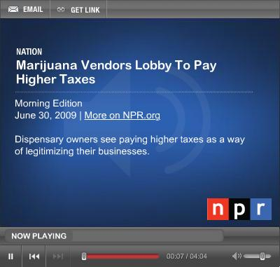 NPR Oakland Cannabis Tax