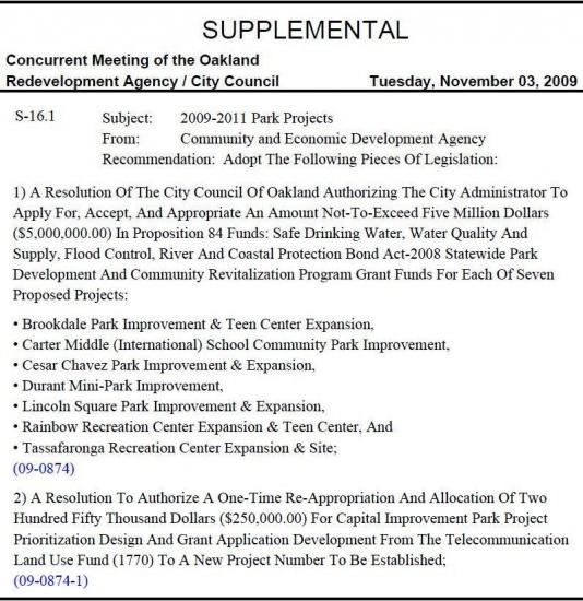 City Council - Nov 3, 2009